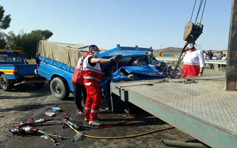 تصادف درزنجان سه کشته برجا گذاشت