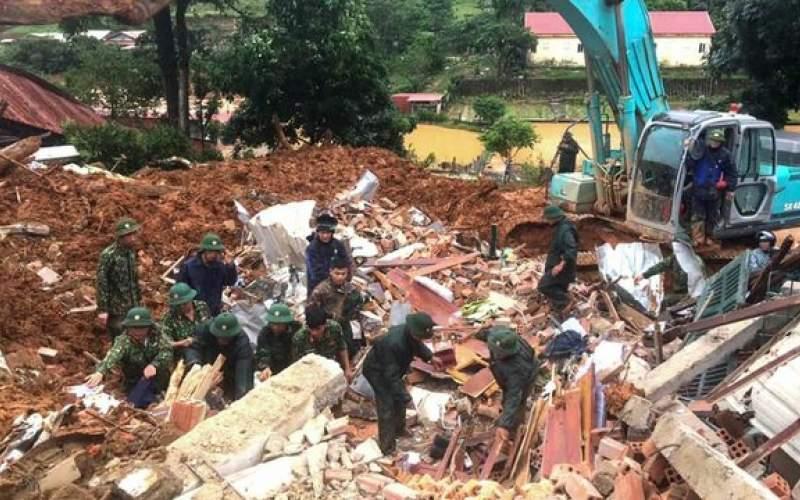 رانش زمین در ویتنام قربانی گرفت