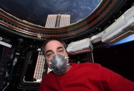 فضانوردناسا باماسک آماده بازگشت به زمین است