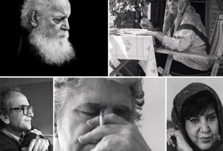 مهرداد اسکویی تصویر ۵ چهره ادبی را هدیه داد