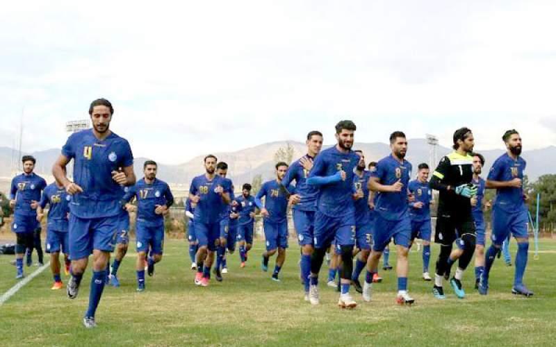 تمرین تیم فوتبال استقلال تهران تعطیل شد
