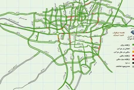 وضعیت ترافیکی تهران در اولین روز محدودیتها