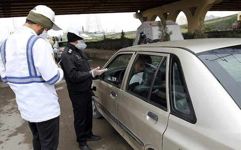 جریمه ۶هزار خودرو برای نزدن ماسک