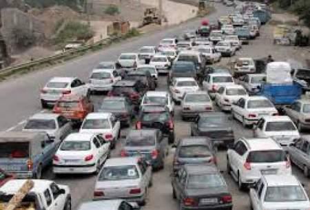 ترافیک نیمه سنگین در جاده هراز