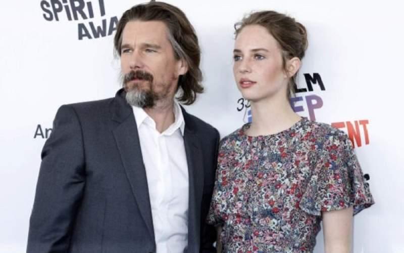 ایتن هاوک و دخترش در یک قاب تصویر