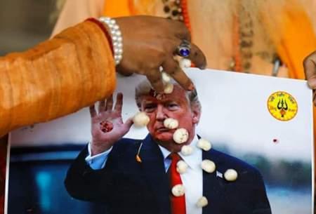 مراسم دعا در هند برای پیروزی ترامپ/تصاویر