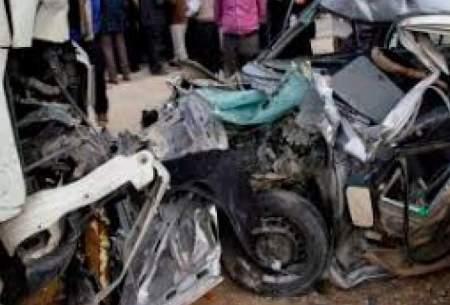مرگ هفت عضو یک خانواده در سانحه رانندگی