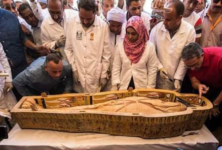 رونمایی از تابوتهای باستانی کشف شده در مصر