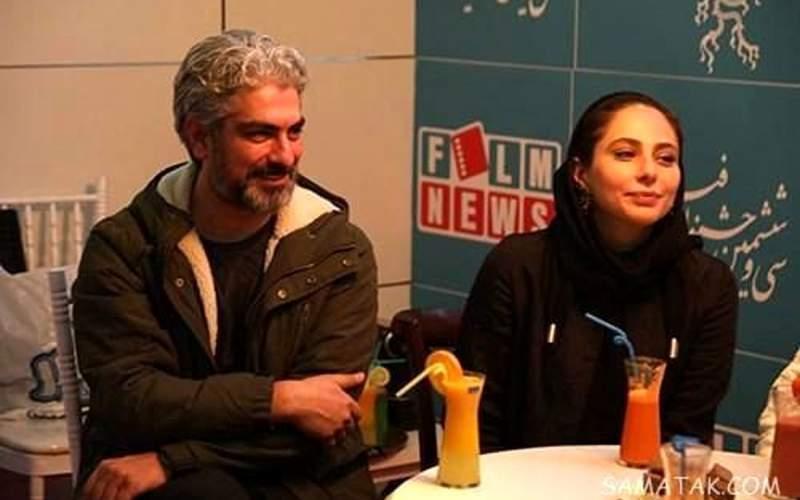مهدی پاکدل و همسرش رعنا آزادیور/عکس