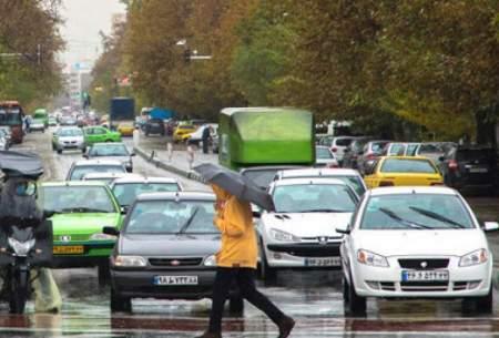 باران حریف آلودگی هوای برخی مناطق پرتردد نشد