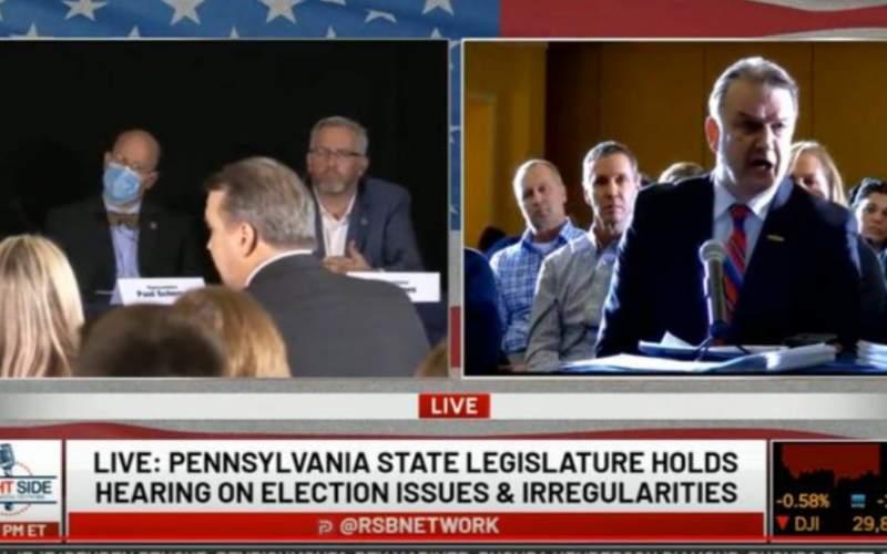 جلسه رسیدگی مجلس پنسیلوانیا به ادعای تقلب