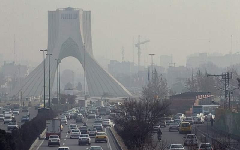 وارونگی هوا، آلودگی را در تهران ساکن کرد