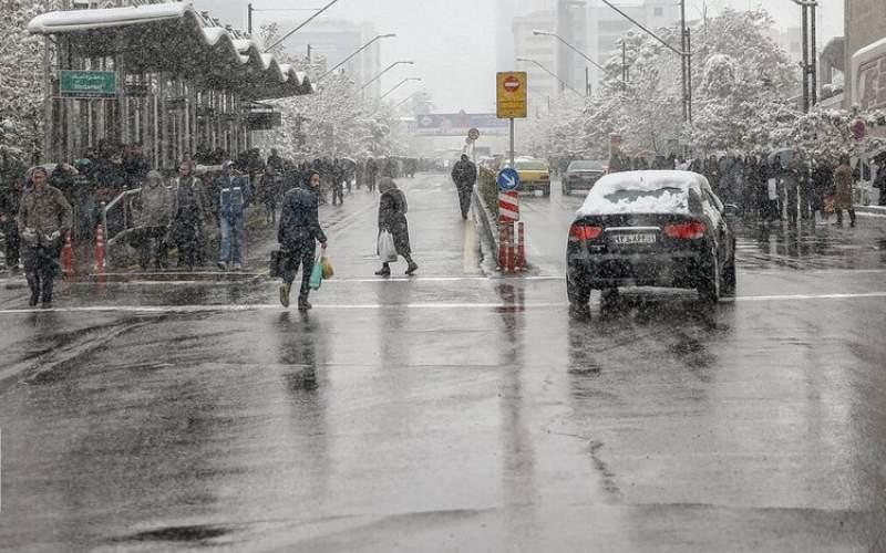 شب برفی پایتخت با کمینه دمای ۴ درجه