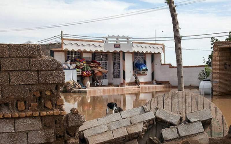 تخریب ۹منزل مسکونی دراثر بارندگی درخوزستان