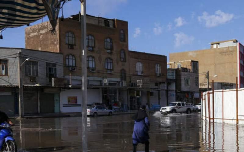 شهرها وروستاهای خوزستان درگیرمشکلات بارندگی