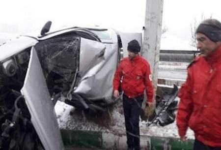 ۳ مصدوم در برخورد ۷ خودرو در تبریز