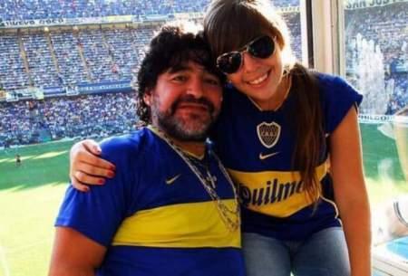 چهره ماتمزده دختر دیگو مارادونا/عکس