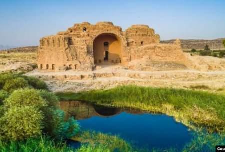 نفوذ سیل به حریم کاخ اردشیر بابکان