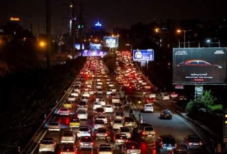 ترافیک سنگین معابر تهران از ساعت ۱۸ تا ۲۲