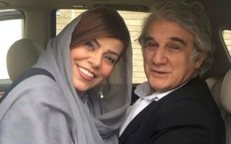 مهدی هاشمی در کنار همسرش /عکس