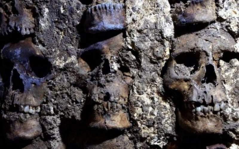 کشف بخش جدیدی از «برج جمجمه» در مکزیک