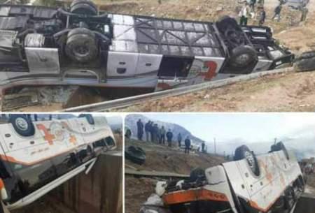۲کشته و ۱۸ مجروح در تصادف یک اتوبوس