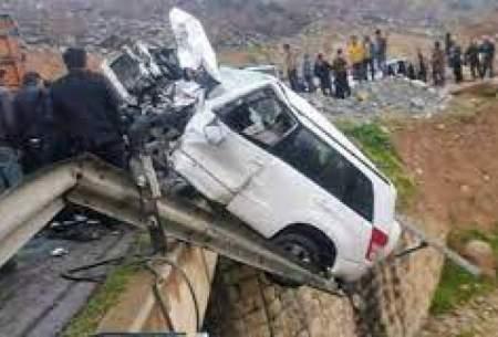 فوت راننده پراید در تصادف با کامیون