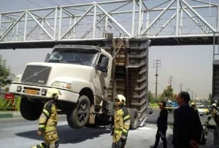 سکته راننده کامیون بزرگراه آزادگان رابه هم ریخت