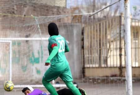 دختران فوتبالیست سیرجان،قشقایی راگلباران کردند