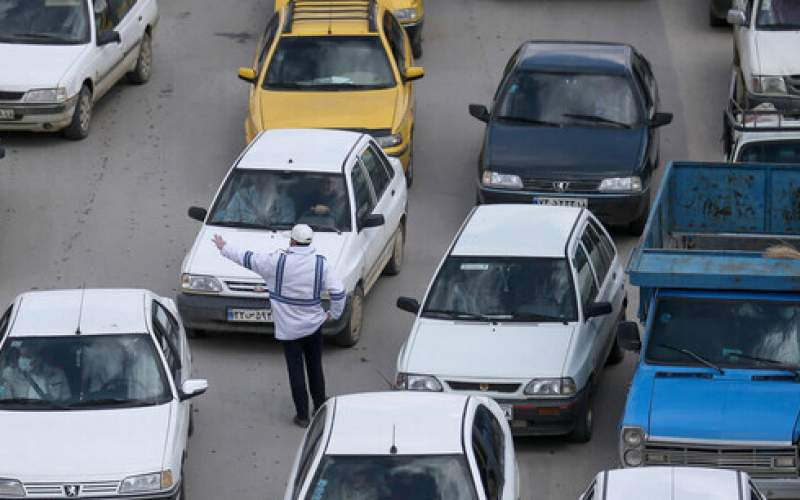 ترافیک سنگین در آزادراه قزوین - کرج