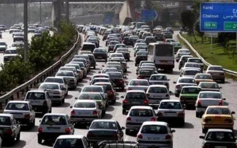 ترافیک پرحجم در آزادراه کرج و قزوین