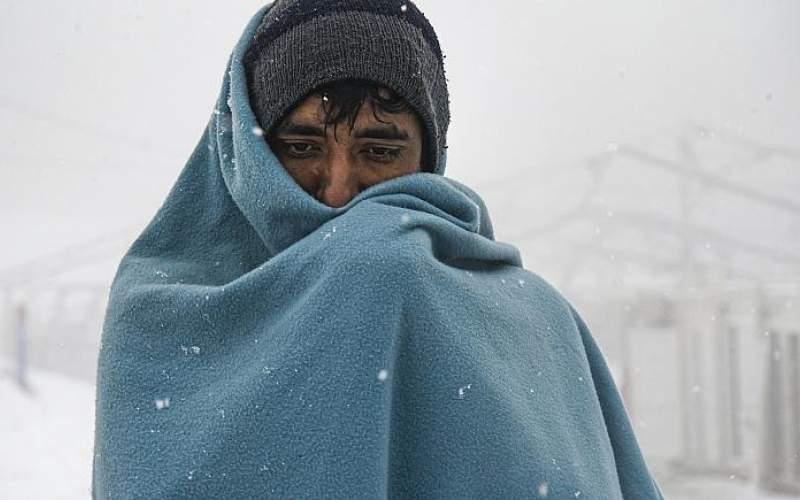 مهاجران بیخانمان در بوسنی یخ زدهاند