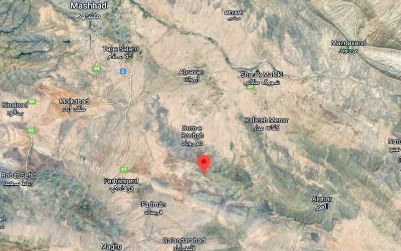 کانون زلزله ۴.۲ ریشتری مشهد کجا بود؟