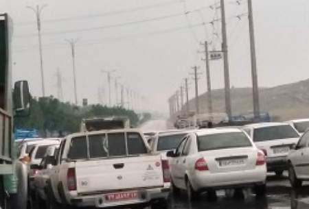 ترافیک سنگین و پرحجم در جاده های مشهد