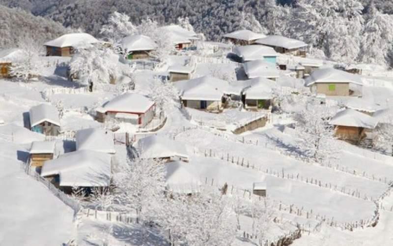 نمای برفی ارتفاعات تالش/عکس
