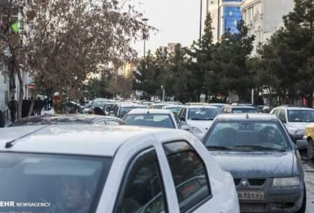 ترافیک سنگین در ۷ گذر اصلی شهر تهران