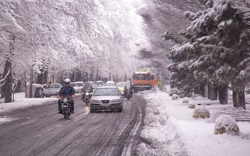 برف و باران در ۱۱استان همراه با افت شدید دما