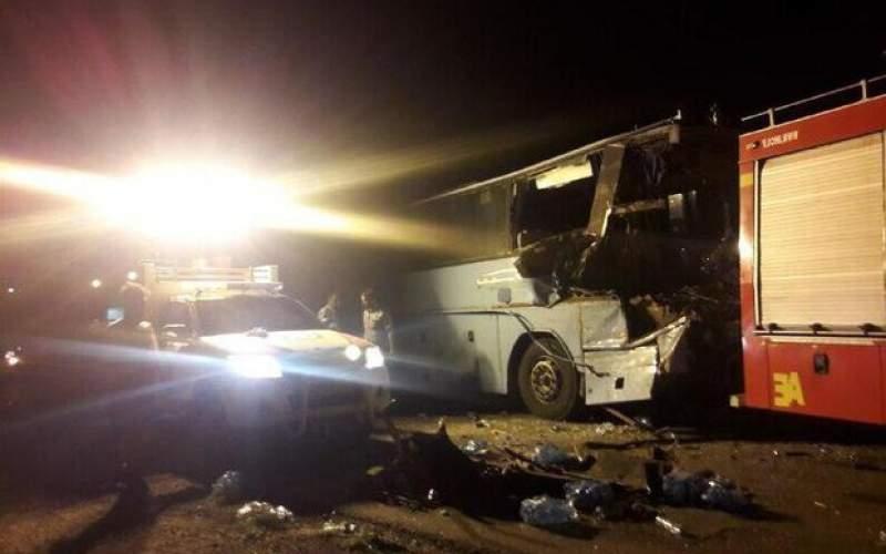 تصادف اتوبوس باتریلی درمحور دامغان-سمنان