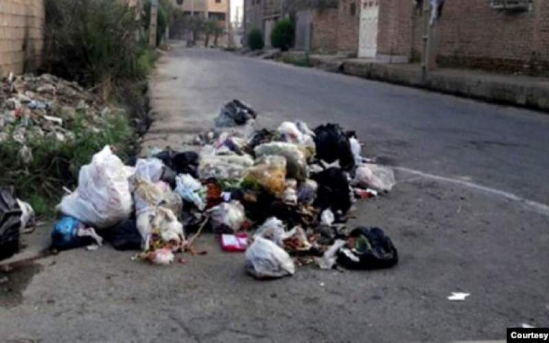 خوداری از جمع آوری زبالهها در کوت عبدالله اهواز