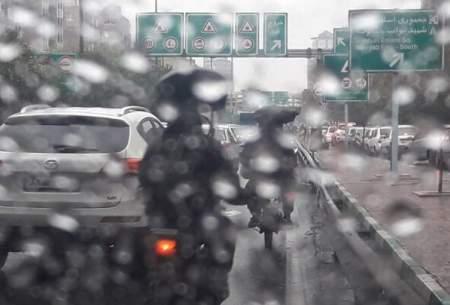 ترافیک نیمه سنگین در ورودی تهران