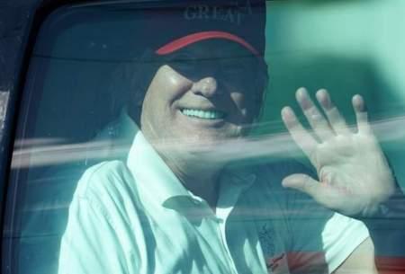 گلف بازی ترامپ پس ازترک کاخ سفید/تصاویر