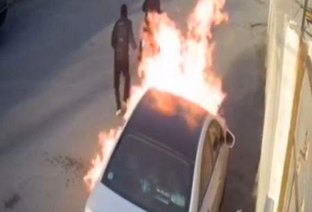 به آتش کشیدن خودروی میلیاردی در بوشهر