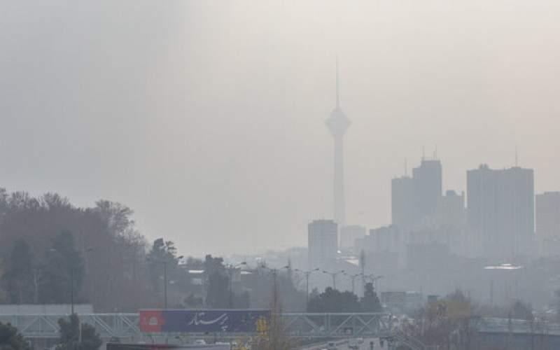 تداوم آلودگی هوای پایتخت طی امروز