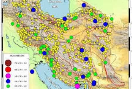 ایران در دی ماه بیش از ۹۰۰ بار لرزید