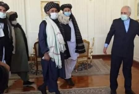 دیدار ظریف با سران گروه طالبان در تهران
