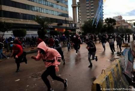 حمله معترضان لبنانی به ساختمانهای دولتی