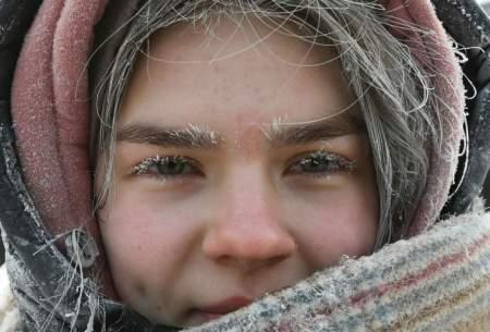 دختر یخی در روسیه/عکس