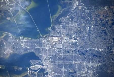 عبور ایستگاه فضایی بینالمللی بر فراز شهر تمپا