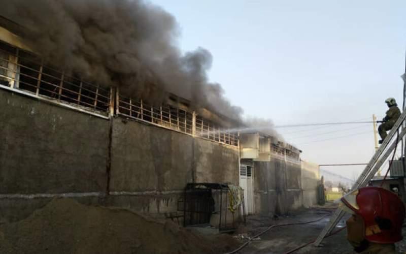 آتش سوزی گسترده در کارگاه نخریسی
