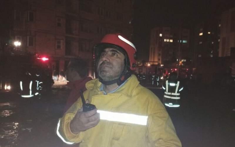 آتشسوزی در ساختمان ۲۱طبقه نیمهکاره
